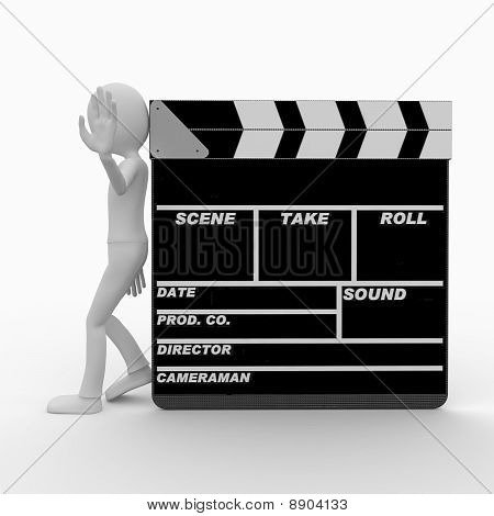 3D Man With Clapper