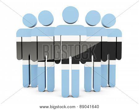 People With Flag Of Botswana