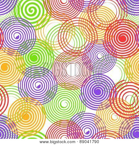 Seamless Pattern With Spiral Ornament
