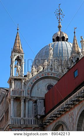 Architectural Detail Of Basilica San Marco, Venice, Italy