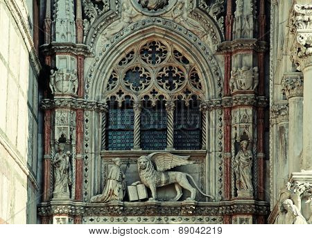 Details Of The Basilica On Piazza San Marco, Venice, Italy