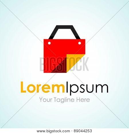 Red file bag sticker graphic design logo icon