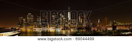 New York Night Panorama