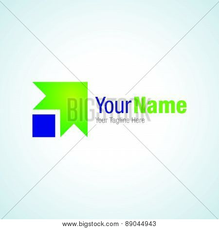 Banking system green arrow start business graphic design logo icon