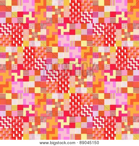 Red orange pink checkered tileable background