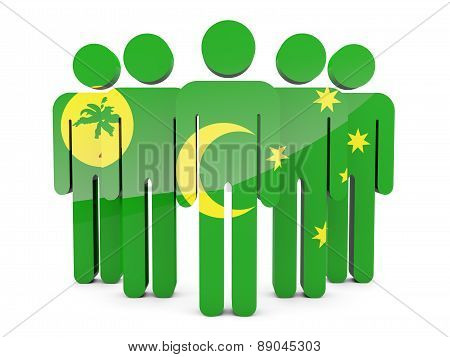 People With Flag Of Cocos Islands