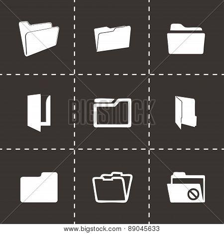 Vector folder icons set