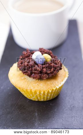 Easter nest cup-cakes