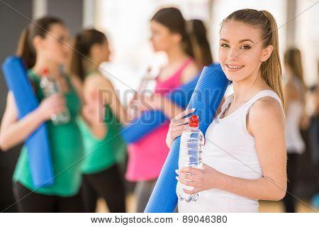 Pregnant Women At Gym.
