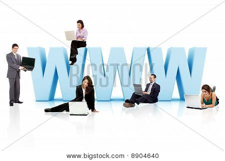Business People With Www