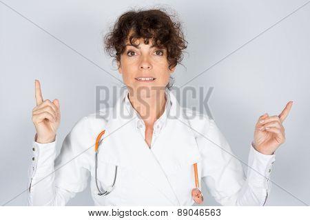 Portrait Friendly, Smiling, Confident Female Doctor, Health Care Professional