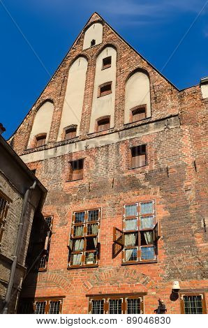 The Copernicus Museum in Torun, Poland, view from courtyard.