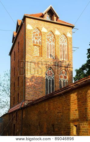 Historic Dovecote Tower (Baszta) in Torun, Poland.
