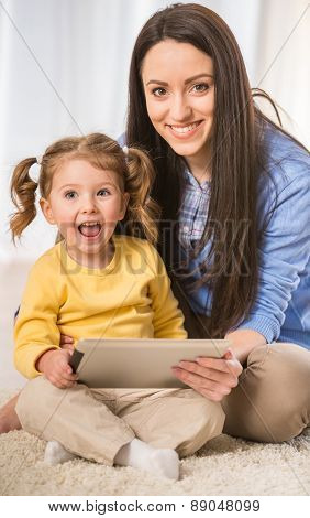 Mom With Little Daughter