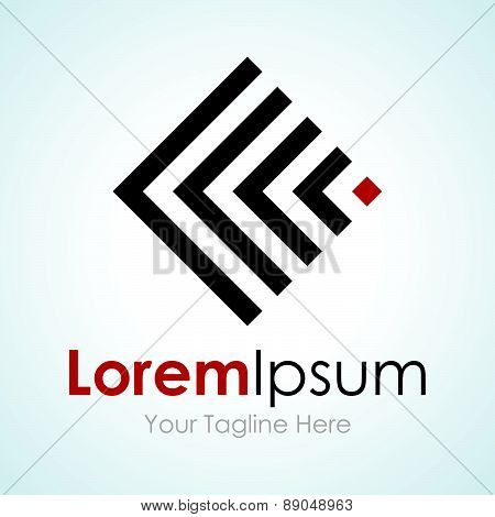 Abstract radio broadcasting simple global business icon logo