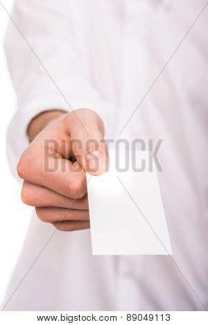 Hand With Business Card