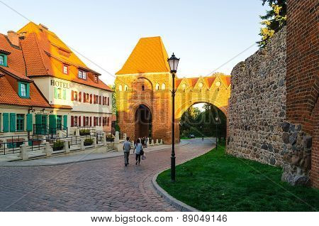 Old Town in Torun, Poland.