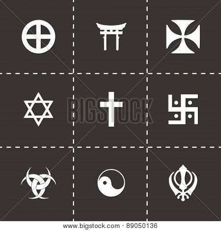 Vector religious symbols icon set