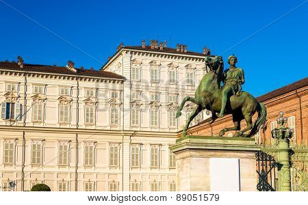 Statue Of Dioscuri In Turin - Italy