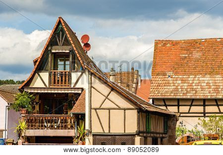 Traditional Alsatian House In Bergheim, France