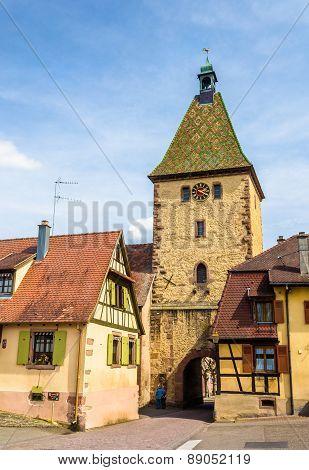 Tower Gate (la Porte Haute) In Bergheim, France