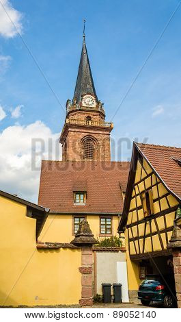 Church Of Assumption Of The Blessed Virgin Mary In Bergheim - France