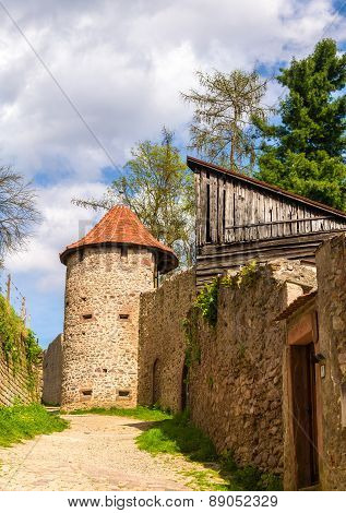 Town Walls Of Ribeauville - Alsace, France