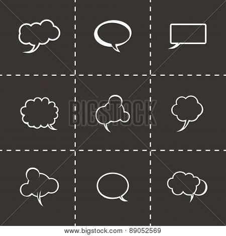 Vector speech bubbles icon set