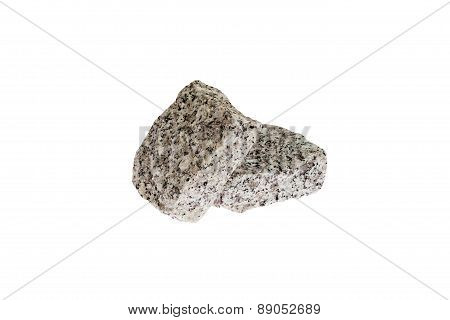 Granite Cubes on white background.