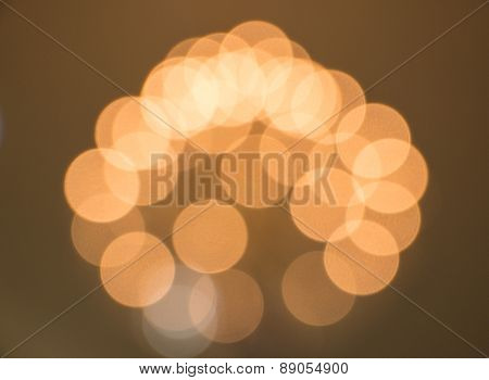 Abstract Blurred Circular Bokeh Lights Background