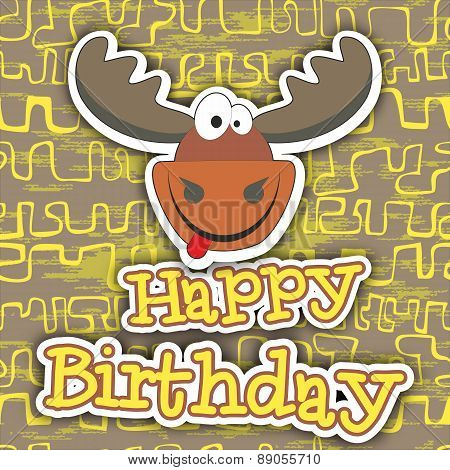 Happy Birthday Card Design. Vector Illustration