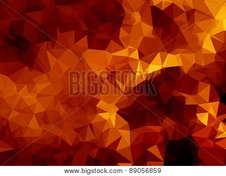 Background modern texture triangle geometry burning yellow flames
