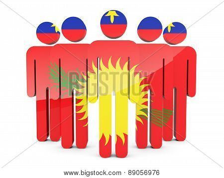 People With Flag Of Guadeloupe