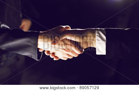 Handshake Handshaking On Light And Dark