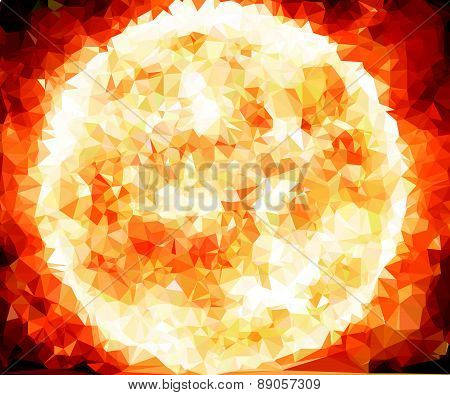 Background modern texture triangle geometry Sun star birth of galaxy