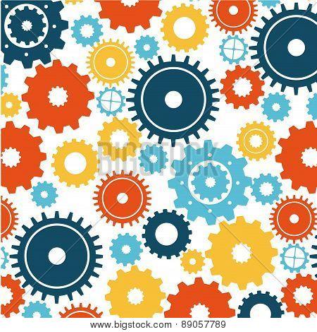 gears design over white background vector illustration