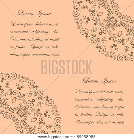 Beige background with vintage ornate pattern