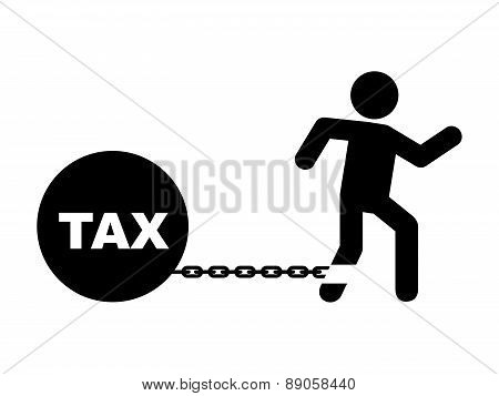 tax icon over  white background vector illustration