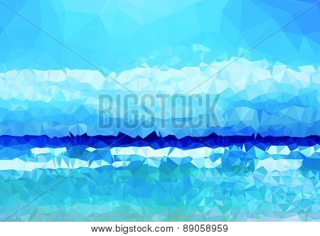 Background modern texture triangle geometry blue life experience abstract