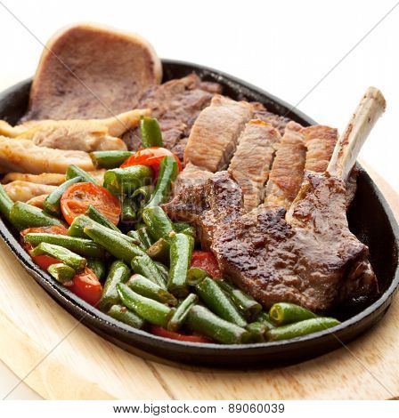 Grilled Foods - Meat with Vegetables