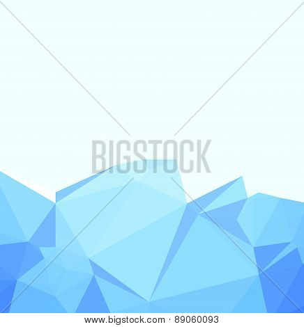 Background abstract triangle geometry pattern ice crystals