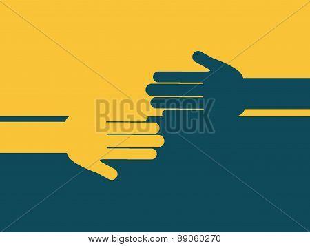 teamwork design over  yellow and blue  background vector illustr
