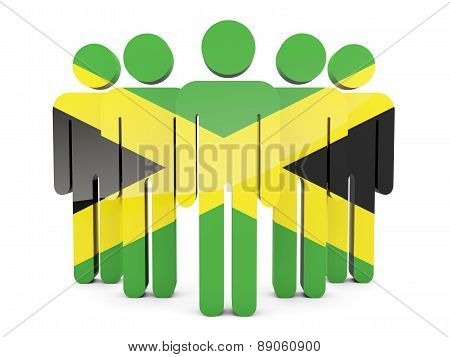 People With Flag Of Jamaica