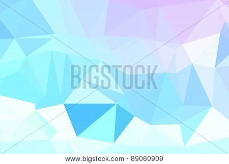 Background abstract triangle geometry pattern white crystal