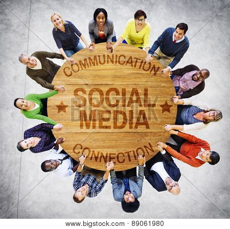 Social Media Communication Connection Networking Concept