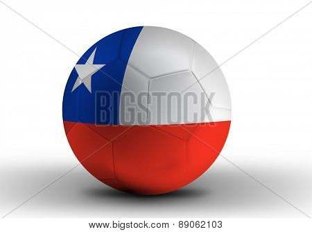 Chilean soccer ball on white background
