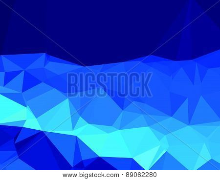 Background abstract triangle geometry pattern deep blue world