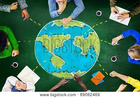 World Global Ecology International Meeting Unity Learning Concept