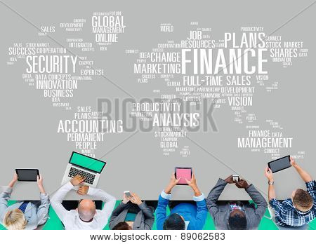 Finance Security Global Analysis Management Accounting Concept