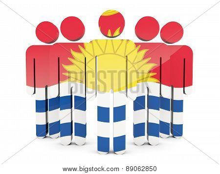 People With Flag Of Kiribati